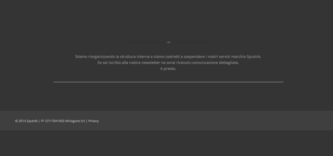 sputnik servizi editoriali sito e servizi sospesi