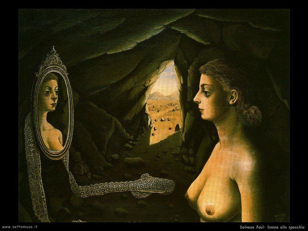 Delvaux Paul - Donna allo specchio