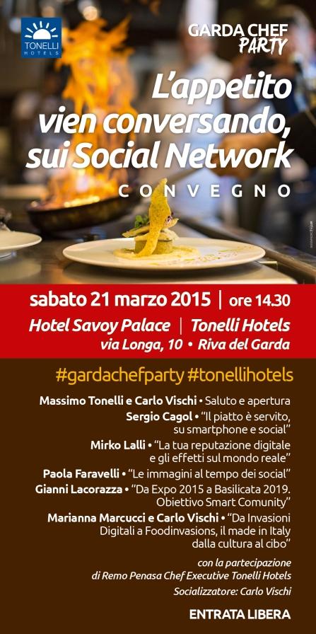 programma garda chef party 2015